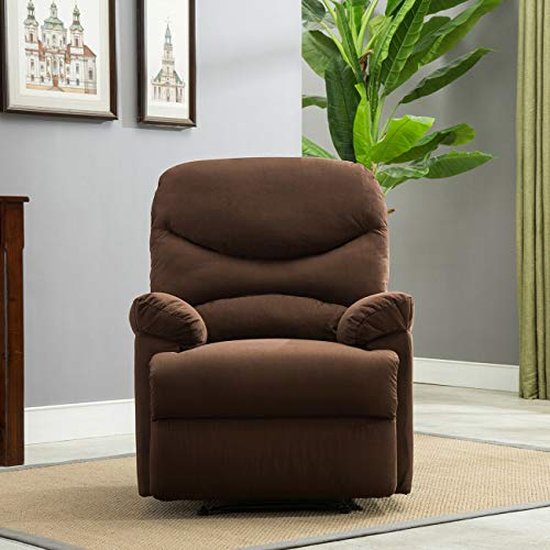 Living Room Design Ideas Recliner Chair Sofa Living Room Furniture Microfiber Reclining Padded Seat Brown