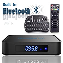 Globmall 4K Android 6.0 TV Box with Free Mini QWERTY Keyboard, 2017 Model X1 android TV Box 64 Bits Amlogic S905X Marshmallow OS with Bluetooth 4.0