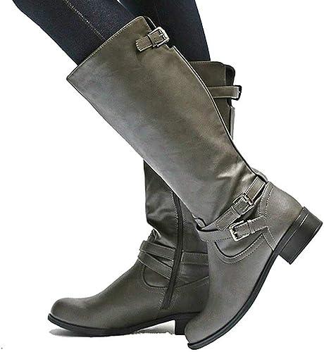 Ermonn Womens Wide Calf Riding Boots