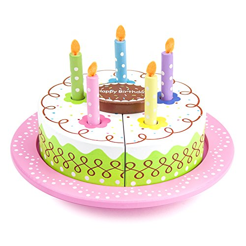 Imagination Generation Wood Eats! Happy Birthday Party - Food Cake Play Set
