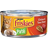 #8: Purina Friskies Pate Chicken & Tuna Dinner Cat Food - (24) 5.5 oz. Pull-top Can