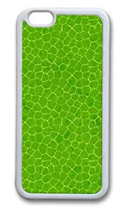 MOKSHOP Adorable Green leaves 2 Soft Case Protective Shell Cell Phone Cover For Apple Iphone 6 Plus (5.5 Inch) - TPU White