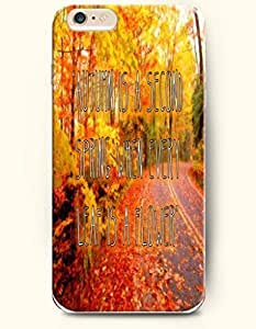 "iPhone Case,OOFIT iPhone 6 (4.7) Hard Case **NEW** Case with the Design of ""autumn is a second spring when every leaf is a flower"