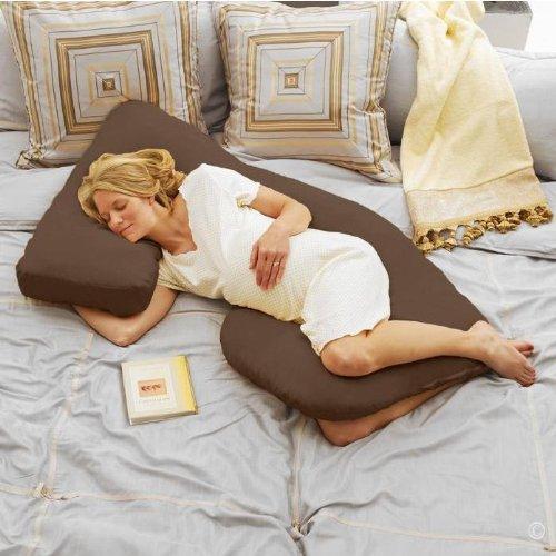 Today's Mom Cozy Cuddler Pregnancy Pillow, Espresso
