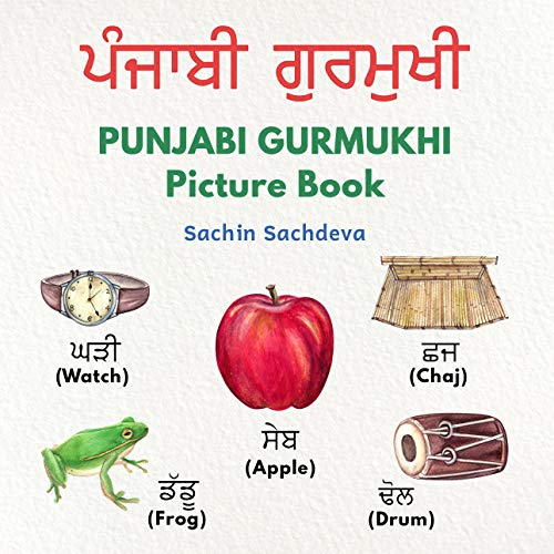 PUNJABI GURMUKHI Picture Book: Your First book for Punjabi Learning - hand painted with English translation (ages 3+) por Sachin Sachdeva