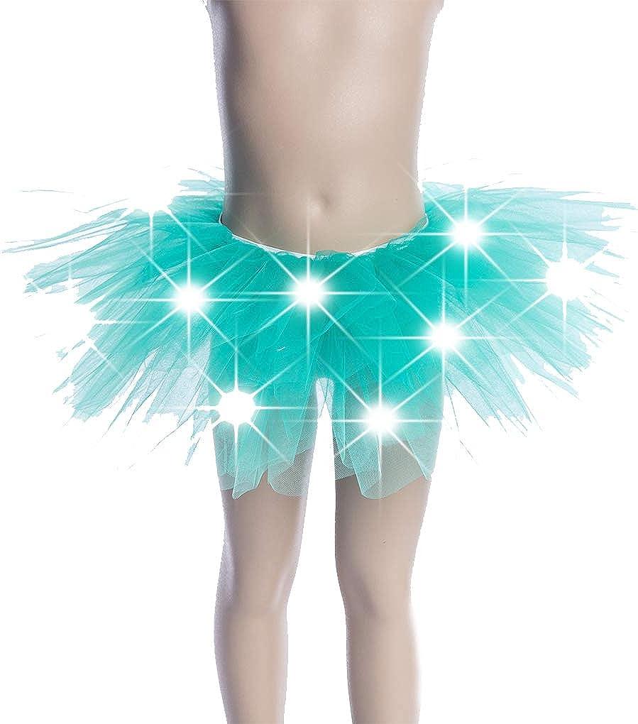 Christmsa Party LIGHT UP LED TUTU Womens Girls Kids Stage Dance Skirt Dancewear