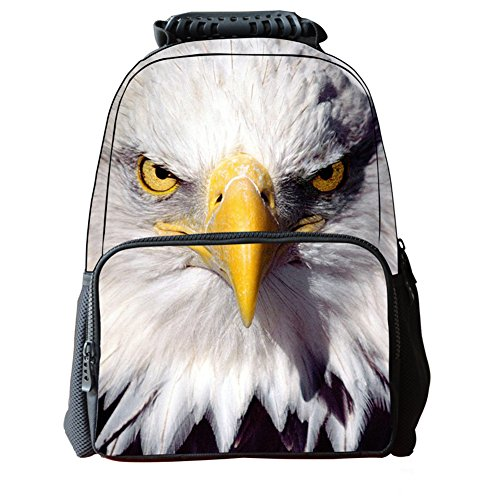 Girls Print Boys Owl Animal 3D Backpacks Outdoor Personalized Bags School Unisex's Vivid Zrong Daypack d4Y5Rxwqw