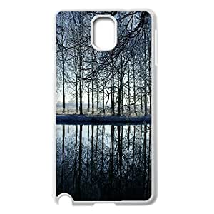 {Funny Series} Samsung Galaxy Note 3 Case Reflection in Kromme Rijn River, Elegant Case Okaycosama - White