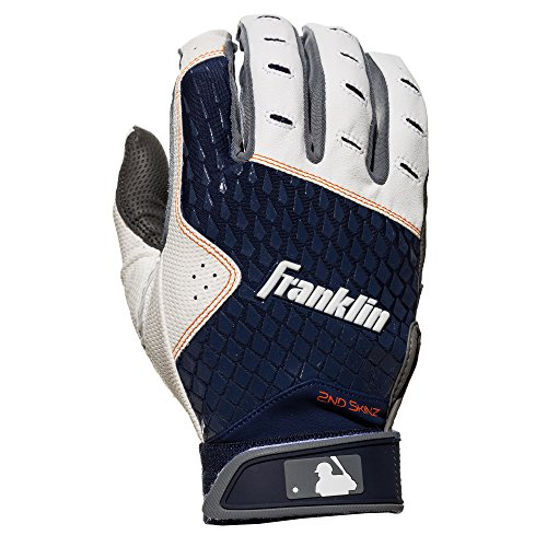 Franklin Sports 2nd-Skinz Batting Gloves Gray/Navy Youth XX-Small by Franklin Sports