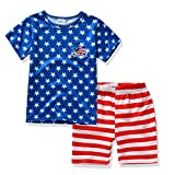 Boys Clothing Sets T-shirt & Shorts Star & Stripes '4Th of July' for Baby Outfit (4T, Blue)