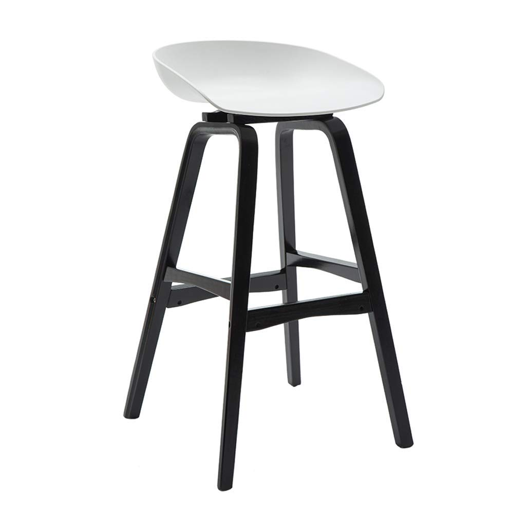 White Bar stools Modern Style Bar Stools Counter Chair Kitchen Breakfast Barstool Wooden Legs Black (Colour Yellow, Black, White, etc.)