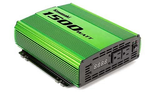 Kawasaki 840125 Green 1,500 Watt Power Inverter