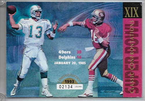 1993 UDA Super Bowl XIX Classic Confrontations Card Marino-Montana # 2134/20,000 ()