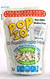 Pop I.Q. – The Best Healthy Snack – Organic Air Popped Sorghum Grain, Tuscany Flavor w/Extra Virgin Olive Oil – non-GMO, Vegan, Gluten-Free (Pack of 12 Single Servings)