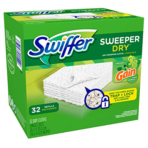 Swiffer Sweeper Dry Sweeping Pad Refills for Floor mop Gain Scent 32 (Gamble Swiffer Sweeper)