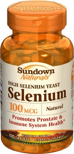 Sundown haute puissance naturelle de sélénium, 100 mcg, 100 comprimés (lot de 4)