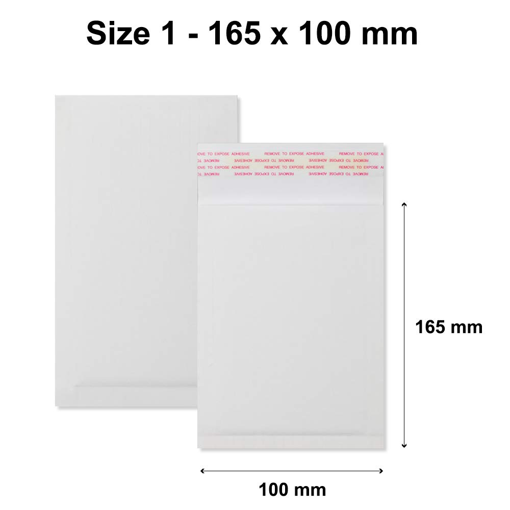 25 x AKAR White Corrugated Padded 165x100 mm Mailing Bags 100/% Recyclable Biodegradable Eco Envelopes Cheap!