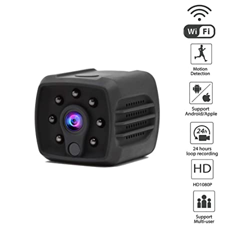 Security Mini Camera Hidden Camera, Full HD 1080P Wireless WiFi Cam Small Indoor Home Security Camera Nanny Camera with Night Vision and Motion Detection 1