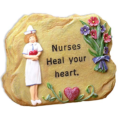 BANBERRY DESIGNS Nurses Heal Your Heart Miniature Rock - Gifts for Nurses - Nurses Gifts - Nurse Angel - Nursing - Nurse Gifts ()