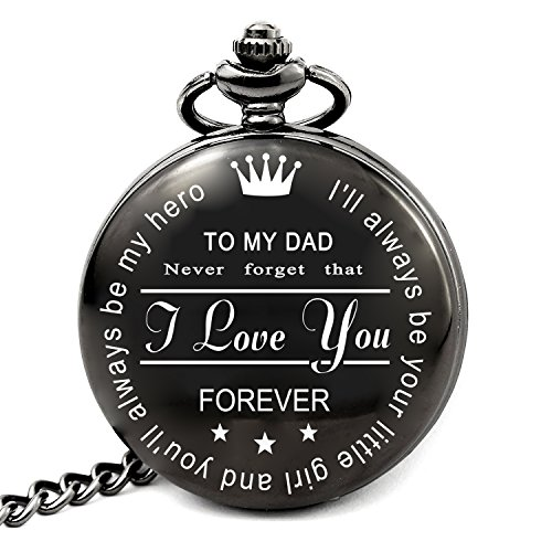 Best Dad Gifts for Dad Birthday Christmas Fathers Day - I'll Always Be Your Little Girl You'll Always Be My Hero