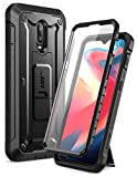 OnePlus 6T Case, SUPCASE Unicorn Beetle PRO Series with Built-in Screen Protector& Rotating Belt Clip Holster Full-Body Rugged Kickstand Holster Case for 1+ 6T 2018 Release (Black)