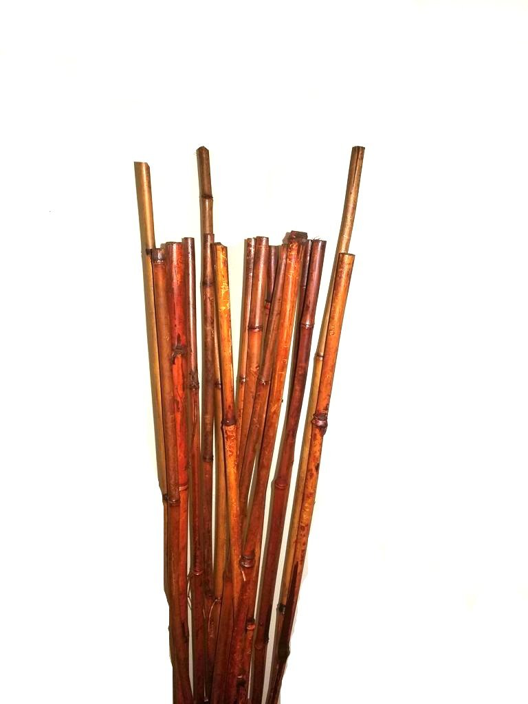 Natural THICK bamboo Stakes 5 Feet Tall About Half Inch Diameter - Pack of 16 (Natural Brown)