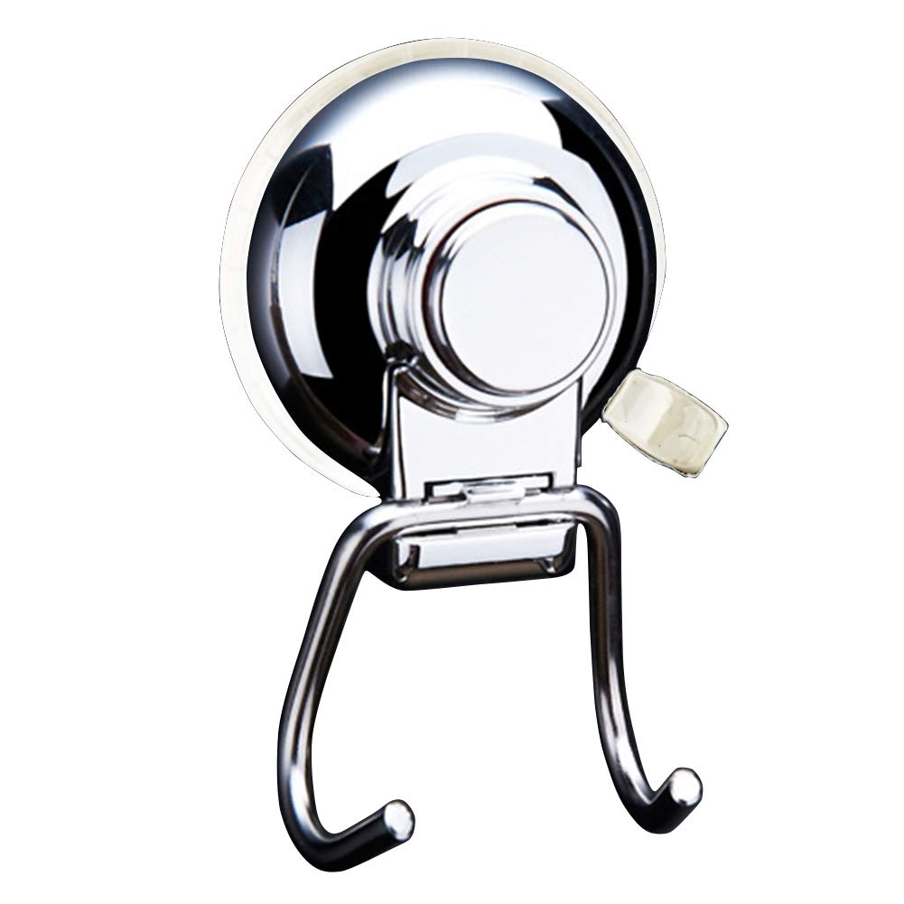 Ancome Powerful Vacuum Suction Cup Hook Holder, Strong Stainless Steel Hooks for Bathroom & Kitchen, Towel Hanger Storage