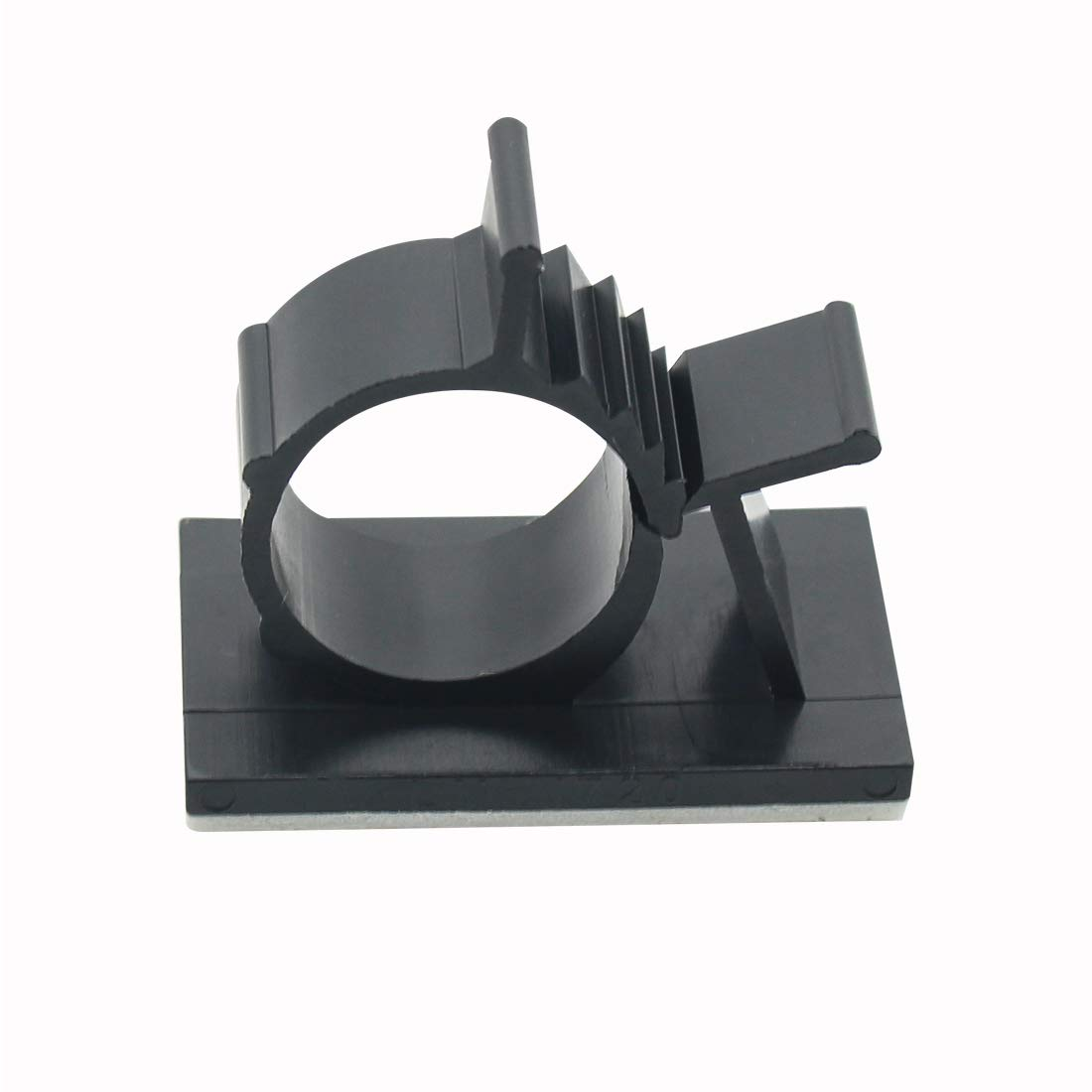 25PCS Black Adhesive Backed Nylon Wire Adjustable Cable Clips Clamps
