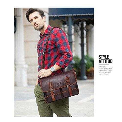 briefcase Bag Leather Shoulder Casual Messenger Bag Bag Men's Haixin q8twaxF8