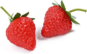 EORTA 20 Pieces Artificial Strawberries Simulation Red Strawberries Fake Lifelike Fruit for Home Decoration, Photography Prop, Basket Display, Small-3.5 cm