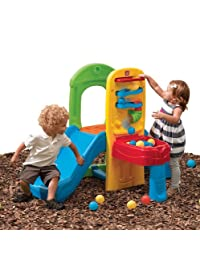 Step2 Play Fun Climber Ball for Toddlers - Durable Outdoor Indoor Kids Slides and Crawl Space with 10 Balls - Multicolor