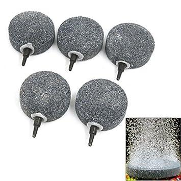 DealMux pecera redonda en forma de burbuja gris Aire disco de piedra de Airstone: Amazon.es: Productos para mascotas