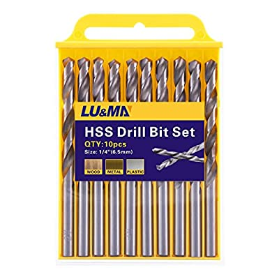 LU&MA HSS Twist Drill Bit Set, Silver