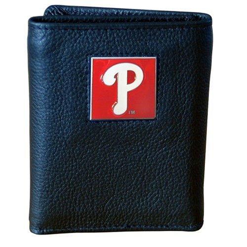 Leather Phillies Baseball Philadelphia (MLB Philadelphia Phillies Genuine Leather Tri-fold Wallet)
