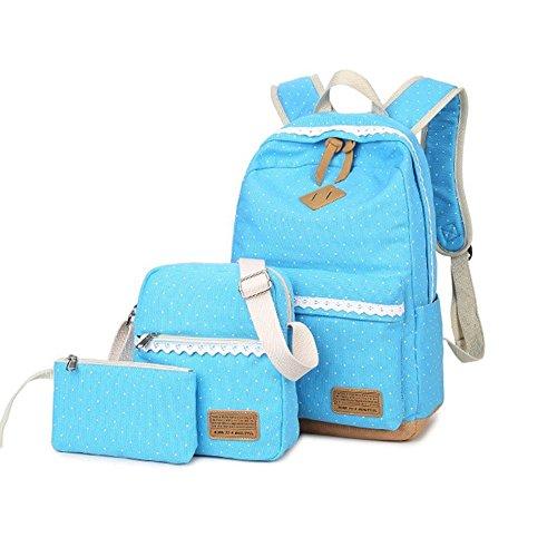 Sulmoe - Bolso mochila  para mujer verde verde azul