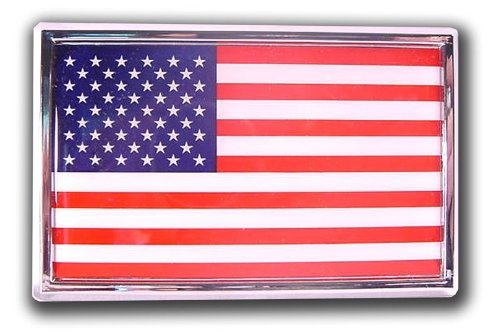 American Flag Chrome Automobile Emblem