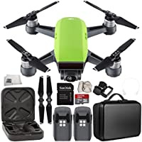 DJI Spark Portable Mini Drone Quadcopter Essential Portable Bag Shoulder Travel Case Bundle (Meadow Green)