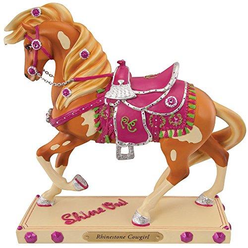 Enesco Trail of Painted Ponies Rhinestone Cowgirl Figurine, (Rhinestone Figurine)