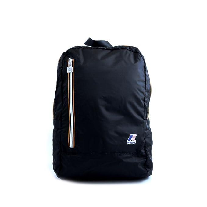 7fe87f6fce Zaino Uomo Donna K-Way BackPack Men Woman K-Pocket K1331 Black Nero:  Amazon.it: Abbigliamento