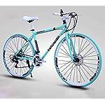 51 bAmf4szL. SS150 JXH Adulti Road Bike, Uomini Bicicletta da Corsa con Doppio Freno a Disco, ad Alta Acciaio al Carbonio Telaio da Strada…