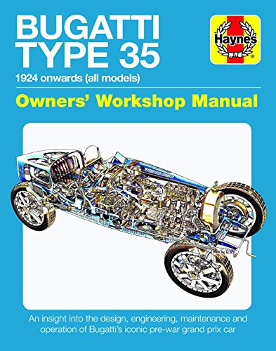 (Bugatti Type 35 Owners' Workshop Manual: 1924 onwards (all models) - An insight into the design, engineering, maintenance and operation of Bugatti's iconic pre-war grand prix car (Haynes Manuals))