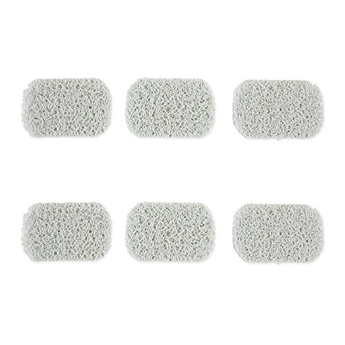 Urban Spa CAMZ10926 Natural Dish Lift Holder Accessory, Drains Water, Circulates Air, Extends Life, and Prevents Mushy Soap, 4.5 x 3 x 0.25, Black (Spa Soap Dish)
