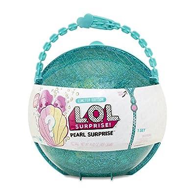 LOL Surprise MEGA Bundle Includes (1) Limited Edition Pearl Surprise (1) Glitter Glam Doll (5) Shopkins Glitter Stickers (1) Pink Action Media Storage Bag!
