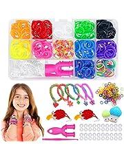 Loom Bandenset, loom-bandenset, doe-het-zelf-elastiekjes, accessoires, loom-bandenset om te knutselen, doe-het-zelf-elastieken, kinderlumbanden box, bandenset