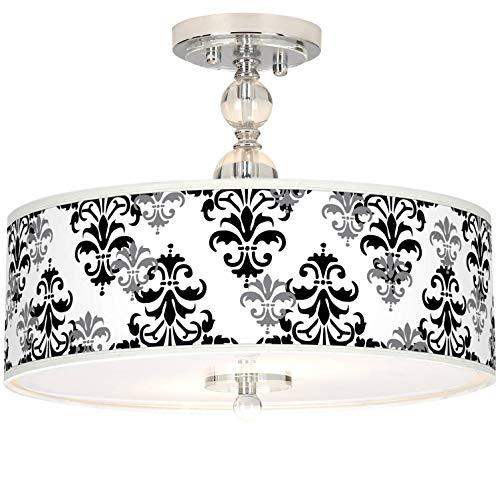 Flush Damask (Luxe Ceiling Light Semi Flush Mount Fixture Crystal 16