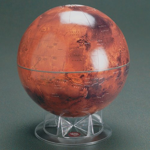 S&T 12'' Mars Globe on Acrylic Stand by Sky & Telescope