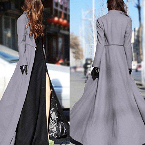 Extra long Automne fin d Hiver Manteau laine Mode EMVANV Printemps en Femme Xng0qYS