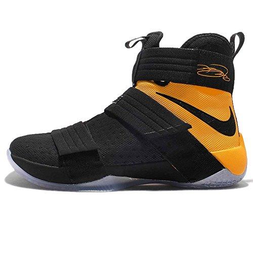 Nike Lebron Soldier 10 Mens Basketball Shoes, Noir/Noir- Dor? Universit, 44 D(M) EU/9 D(M) UK