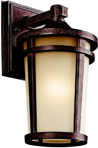 Kichler 49071BST, Atwood Cast Aluminum Outdoor Wall Sconce Lighting, 100 Total Watts, Brown Stone