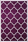"""Cheap A2Z RUG Trellis Rugs Purple 120×170 cm – 3'9""""x5'5"""" ft Trendy Collection Area Rug"""